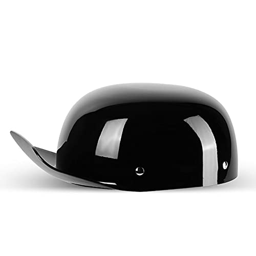 Casco Moto Vintage Caschi Moto Open Face Casco Mezzo Retrò Adulti Berretto da Baseball Moda Casco Certificato DOT Regalo: Asciugamano per Il Viso Alla Moda H,XL=58~62cm