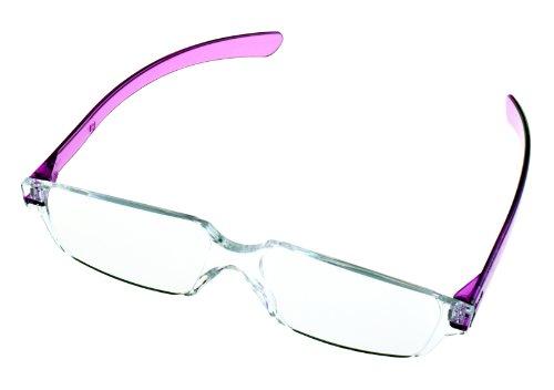全教図 老眼鏡 +4.0 度数 縁なし ど忘れシニアグラス ラベンダー