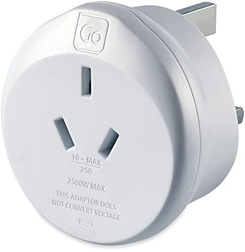 Go Travel Adaptador de corriente de tierra [Australia y China a Reino Unido] (Adapter Ref 560)