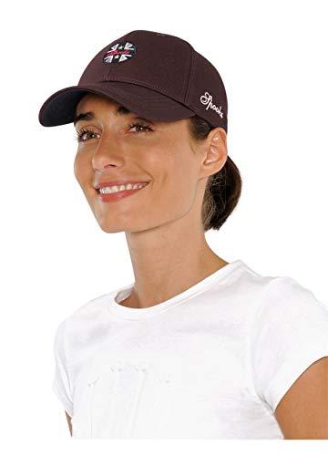 SPOOKS Damen Cap, Kappe Schirmmütze, Cappy, Baseball Mütze, Schirm, Baseballmütze für Frauen Mädchen Kinder - Isi Cap Burgundy Onesize