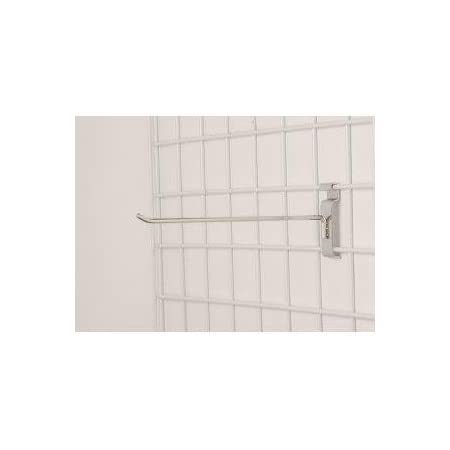 Box of 100 Peg Hook for Wire Grid in Chrome 12 Inch