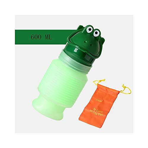 MYMYMYD Botellas de orina, Adultos para niños portátiles Easy Wet Witen Emergency Baños, telescópicos, adecuados para el Camping Travel and Child Stock Formning,Verde