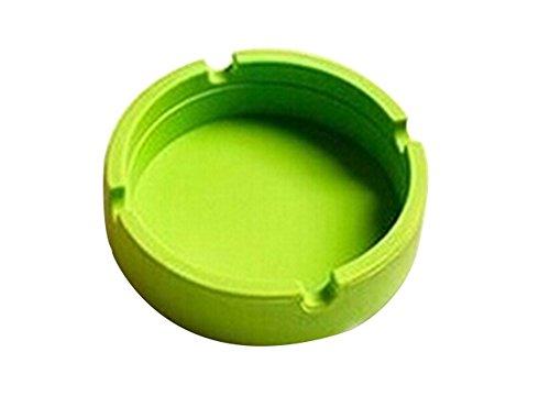BIGBOBA Semplici Posacenere per Sigarette all'aperto di silice Rotondo Posacenere di Verde