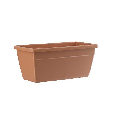 Emsa 518566 My City Garden Pot de fleurs intemporel en terre cuite résistante au gel résistant aux UV 60 x 30 x 26 cm
