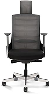 Mahmayi Ergonomic chair with Headrest - Black