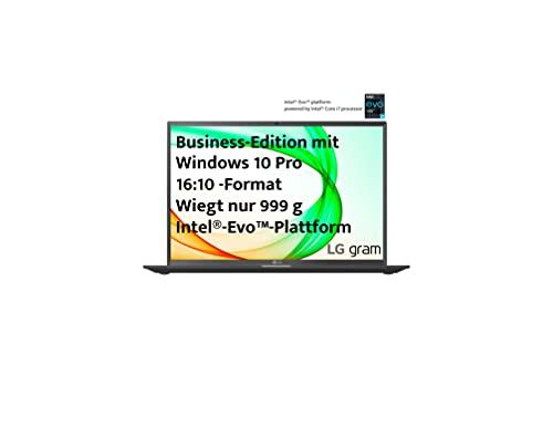LG gram 14 Zoll Ultralight Notebook Business Edition - 0,99 kg leichter Intel Core i5 Laptop (16GB LPDDR4, 512GB SSD, 25,5 h Akkulaufzeit, WUXGA IPS Display, Thunderbolt 4, Windows 10 Pro) - Schwarz