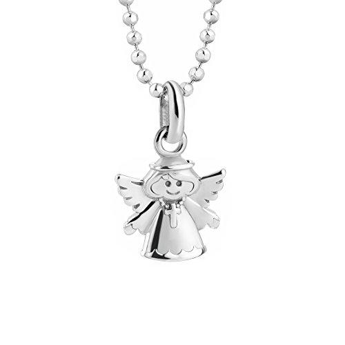 butterfly Kinderkette Mädchen Hals-Silberkette Silber 925 Engel-Anhänger Schutzengel Glücksbringer Längen-verstellbar Geschenkverpackung Geschenk Schmuck