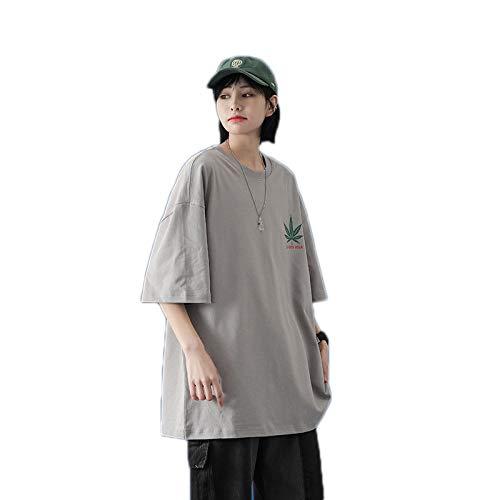 YCJ Estampado de Poliéster de Manga Corta de Impresión Digital 3D Cuello Redondo Corto Casual Camiseta Transpirable T-Shirt Chaqueta Suelta Personalizar/Z/M
