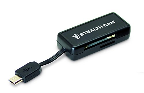 Stealth Cam Micro USB OTG Memory Card Reader for Android Devices, Black, STC-SDCRAND