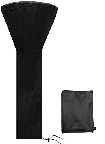 Kavard Heizpilz Abdeckung, 210D Oxford Abdeckhaube mit Reißverschluss Schwarz Witterungsbeständig, Wasserdicht Winddicht UV Beständige für Terrassenstrahler (226 * 85 * 48CM)