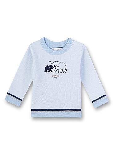 Sanetta Baby-Jungen Fiftyseven Sweatshirt, Blau (Hellblau 50296), 86 (Herstellergröße: 086)