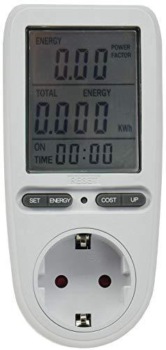 Energiekosten-Messgerät Stromkosten Kontrolle Verbrauchszähler Kinderschutz 3680Watt Tarif einstellbar großes Display