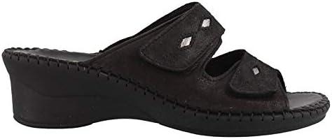 La Plume Women's, Susan Slide Sandals Black 39 M