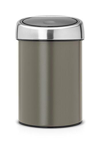 Brabantia 364464 Touch Poubelle Acier Inoxydable/Plastique Argent/Platinum 40,1 x 22 x 26,9 cm 3 L