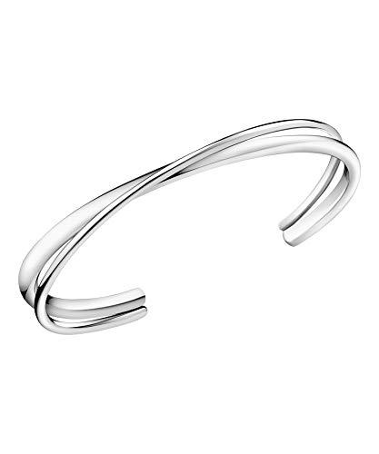 Calvin Klein Damen-Armreif Edelstahl One Size Silber 32002234
