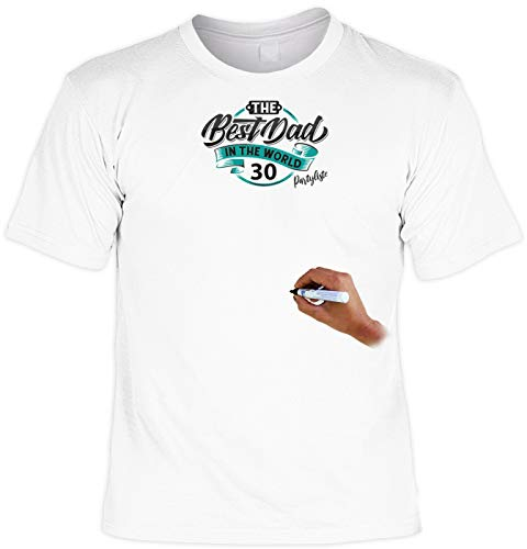T-Shirt Inclusive Textilstift: The Best Dad in The World 30 Partyliste