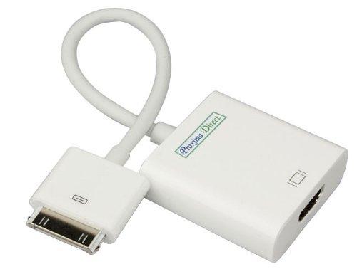 Proxima Direct - Adaptador de iPad a HDMI (compatible con Full HD 1080p, funciona con iPhone 4 sólo para aplicaciones de vídeo)