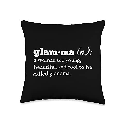 Best Grandma Gifts Definition Cool Beautiful Grandma Love My Glamma Throw Pillow, 16x16, Multicolor