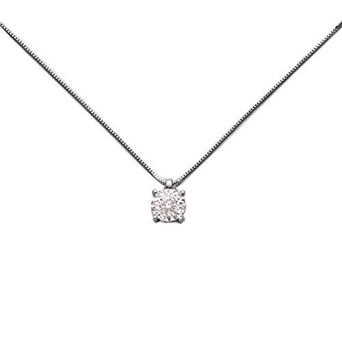 Miluna Collana Oro Bianco 18Kt e Diamanti - CLD4006