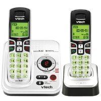Vtech DECT 6.0 Expandable 2-Handset Cordless Phone System with Digital Answering Device and Caller ID (CS6229-2)