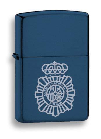 Martinez Albainox Mechero de Gasolina Cuerpo Nacional de Policía en Metal Color Azul 33541GR4017