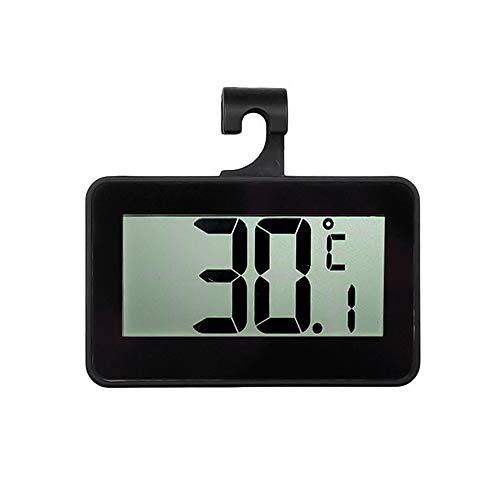 Lasamot Termometro per frigorifero digitale LCD Termometro per frigorifero con congelatore con supporto regolabile Magnete Allarme antigelo Uso domestico