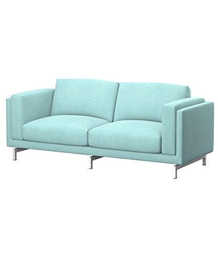 Soferia - IKEA NOCKEBY Funda para sofá de 2 plazas, Glam Mint