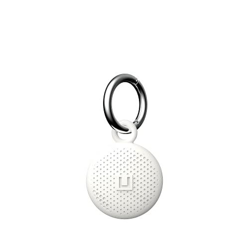U by UAG [U] Dot Keychain Apple Airtag Funda Protectora - [Airtags Llavero Resistente, Llavero extraíble de Silicona Antibacteriano] - Blanco (Marshmallow)