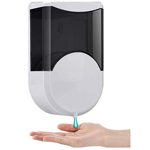 Dispensador de Jabón Automático, Touchless Dispensador de Alcohol en gel Montado en la pared Bomba de Loción de Gel Líquido Bateria Cargada Sensor de infrarrojos para Baño de Cocina 600ml (Redonda)