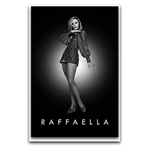 KASUP Raffaella Carra Rap MovieArt Pop Póster decorativo de lienzo para pared, pasillo, club, decoración de oficina, 30 x 45 cm