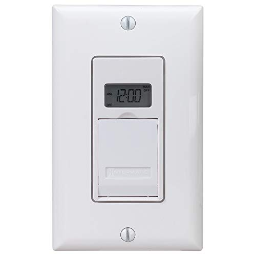 Intermatic EJ600 120 Volt Indoor Digital Astro In-Wall Timer, White, med