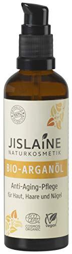 Jislaine Bio-Arganöl* 75 ml ist: Unraffiniert, vegan und ohne Palmöl | Für Haut-, Haar & Nagelpflege - Glasflasche