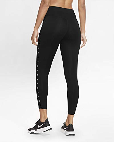 NIKE One Tgt 7/8 Grx Taping, Pantalones Mujer, Black/White, XL