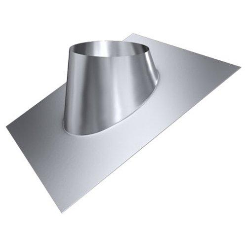 MK sp. Z o.o. Schornstein, Dachdurchführung 20°-35°, Edelstahl, Lochdurchmesser 160 mm (DW 80) Edelstahl glänzend Keine Farbe wählbar
