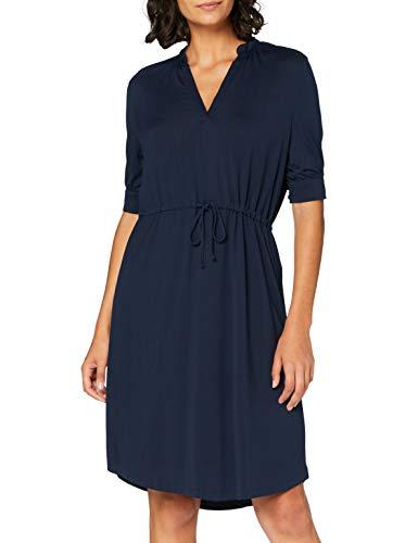 SELECTED FEMME SLFMIE-DAMINA 2/4 Dress B Vestido, Azul Oscuro (Dark Sapphire), M...