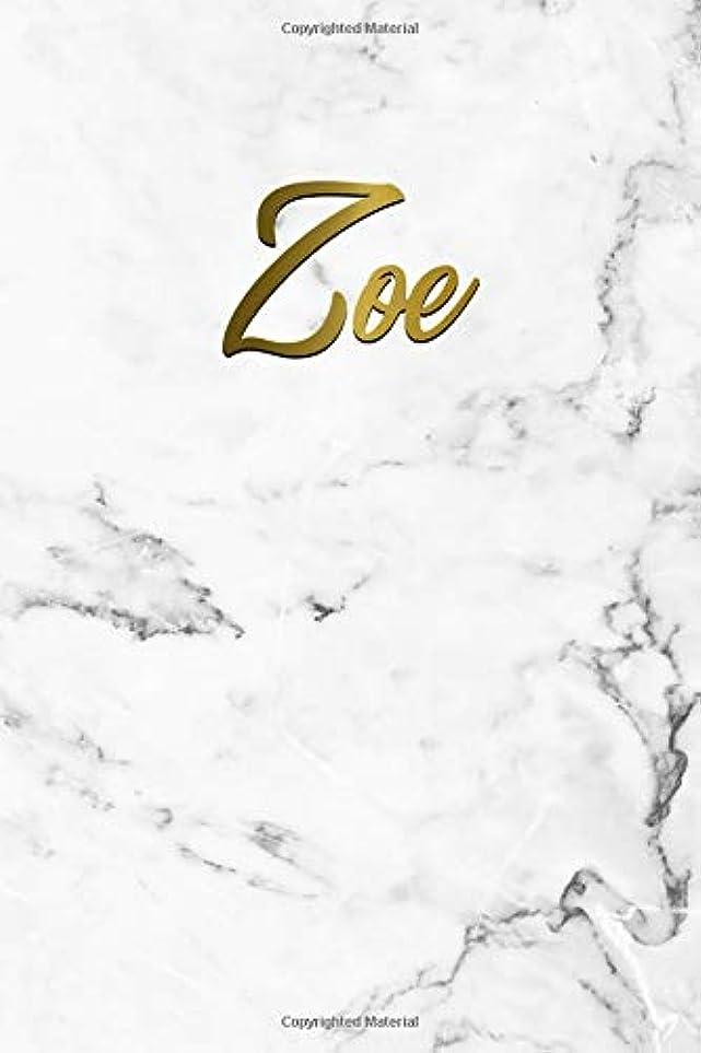 パトロンラウズベイビーZoe: Cute Grey Marble & Gold Personal Dot Grid Journal. Nifty Personalized Name Dot Gridded Bullet Notebook for Girls & Women.