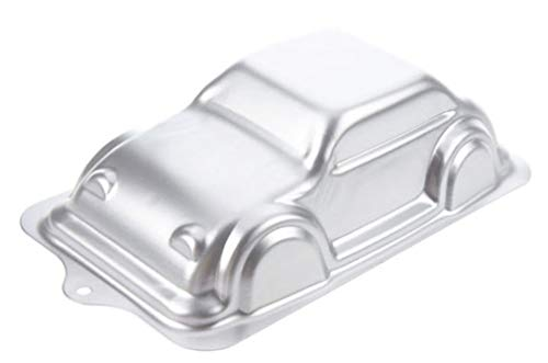WDYJMALL 10 Inch 27cm Car Shaped Aluminum 3D Cake Mold Baking Mould Tin Cake Pan