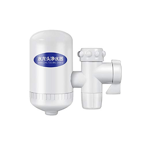 TIAS Wasseraufbereiter, Leitungswasserfilter-System, Wasserhahn-Montagefilter, BPA-frei, passend für Standard-Wasserhähne, weiß