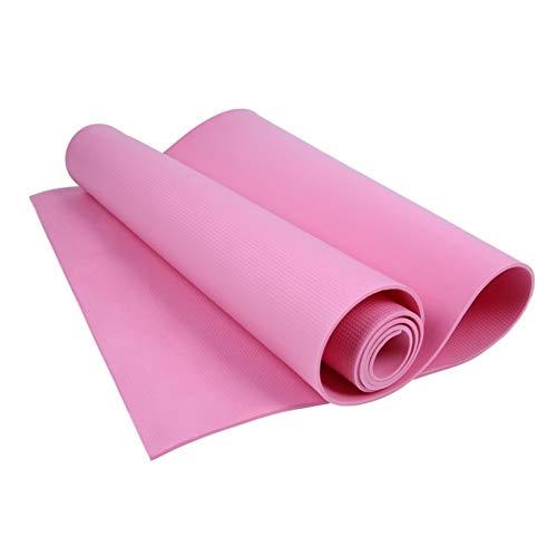 Gaodpz Yoga Mats Manta Antideslizante de PVC de Gimnasia Deporte Salud Bajar de Peso Ejercicio de la Aptitud del cojín Deporte de Las Mujeres de 4 mm Yoga Mat (Color : Pink)