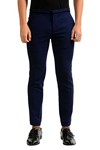 Haider Ackermann Men's Wool Dark Blue Dress Pants US S/32 IT 48