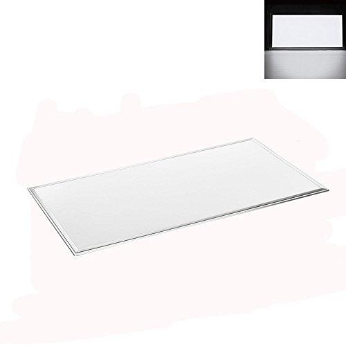 Panel de techo LED de 18 W, 30 x 60 cm, para comedor, 1200 lm, ultrafino, moderno, panel de techo para oficina, cocina, cuarto de baño, 6000 K, blanco frío, rectangular