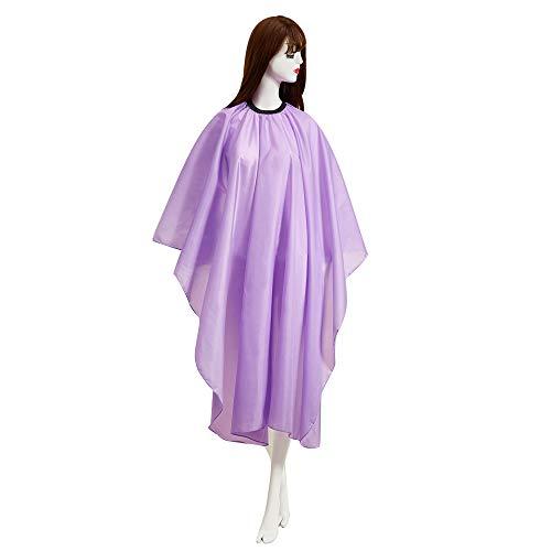 Anself Cape de coiffure imperméable avec robe de coiffure à boucle en métal tablier résistant à l'eau et aux taches