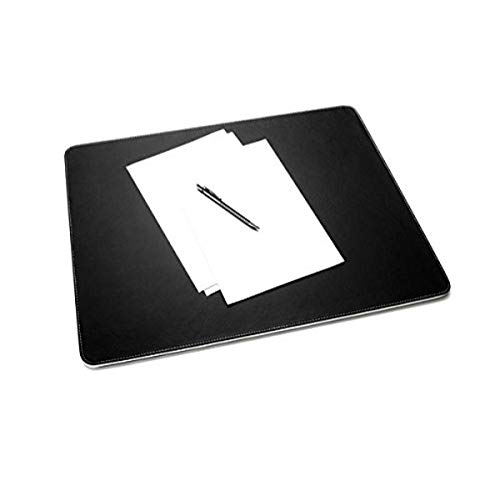 Sigel - Vade de piel sintética para escritorio (600 x 450 mm), color blanco y negro
