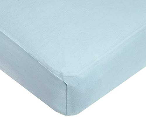 """Best-Bedding 1 PCs Fitted Sheet RV Bunk 42 X 80 Size Light Blue Solid 500 TC 100% Cotton Perfectly fit 15"""" Drop Mattress."""