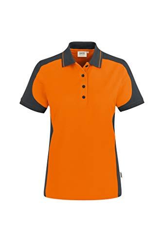 Hakro Women Contrast Poloshirt Performance, orange, 3XL