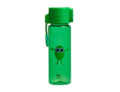 Tinc Kids' Hugga Tribal Character Design Flip and Clip Lockable Leak-Proof Water Bottle, Green, 500 ml
