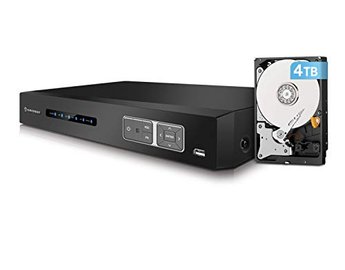Amcrest 4K HD-Analog 16CH Video Security DVR Digital Recorder, UltraHD 16-Channel 4K (8MP), HD Analog, Pre-Installed 4TB Hard Drive, Cameras NOT Included, Security Camera System (AMDV8M16-4TB)