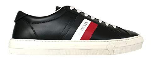 Moncler Sneakers Scarpe da Uomo in Pelle New Monaco Nero 44