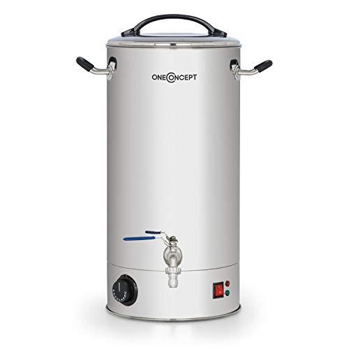 oneConcept Braufreund 30 - Cuve de brassage, Distributeur de boissons, 30L, 30-110°C