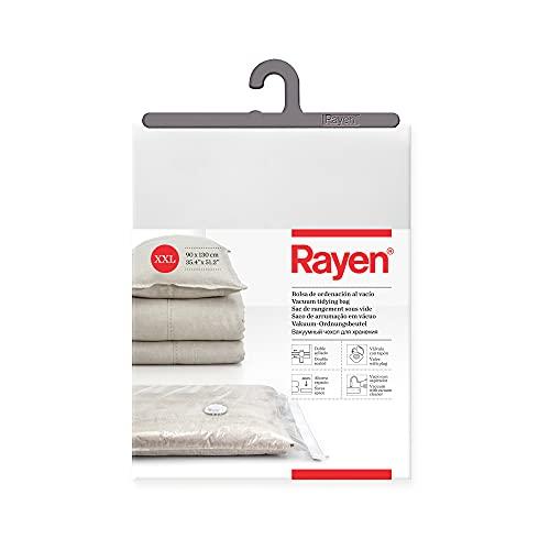 Rayen - Bolsa al vacío para ropa. Funda para guardar ropa al vacío. Talla XXL. 90 x 130. Transparente